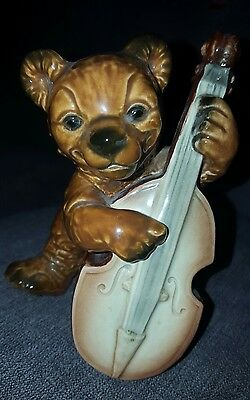 Vintage Goebel Barnyard Band figure - BEAR WITH CELLO - perfect condition