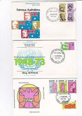 Australia 3 x First Day covers from 1973 16/160