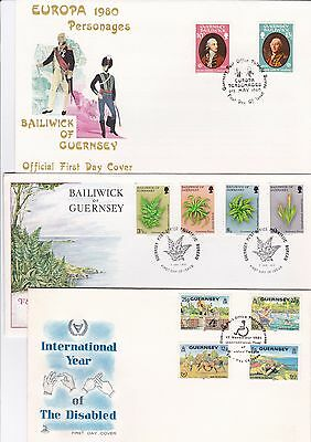 Guernsey -  4 x First Day Covers - 16/143