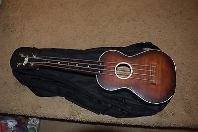 Vintage HARMONY Ukulele, New Strings, New Case, Great Sounding, Stays in Tune VG