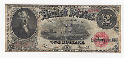United States $2 Series Of 1917 Large Bank Note