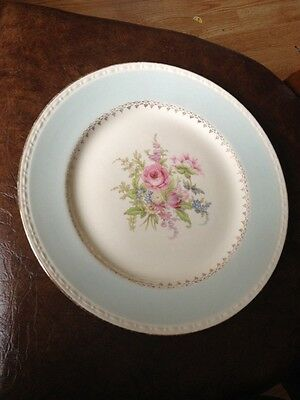 "1 VINTAGE  Homer Laughlin Eggshell Georgian Chateau Dinner Plate 10"" BLUE BAND"