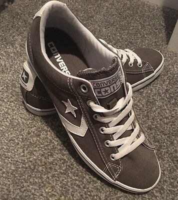 Converse Mens Boys Brown Trainers Size 5.5 New