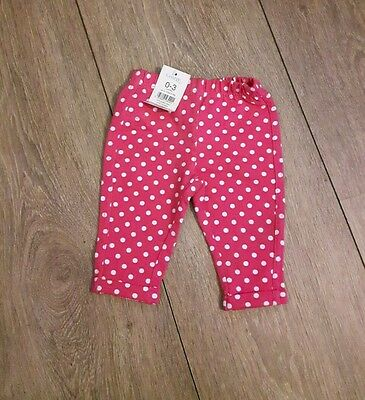Baby Girls Jeggings / Trousers Age 0-3 Months  New
