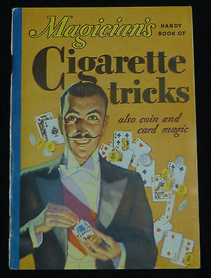 Antique Original 1933 Magician's Handy Book Cigarette Tricks RJ Reynolds Camel