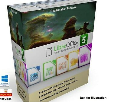 Libre Open Office Pro 5 professional  Suite compatible with Microsoft Windows cd