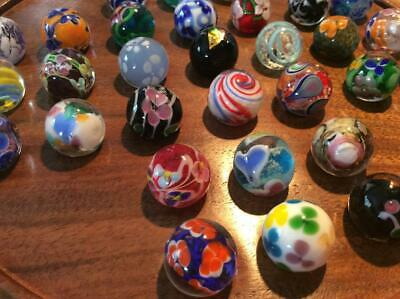 PRETTY HAND MADE MARBLES 16mm very collectable & for solitaire board