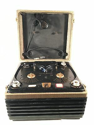 Vintage 1950s Webcor 2110-1 Vacuum Tube Reel-to-Reel Tape Recorder Player WORKS