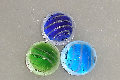 3 x 25mm JETSTREAM RARE COLLECTABLE HAND MADE MARBLES