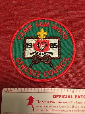 Camp Sam Wood Genesee Council Iroquois Trail New York 1985 Diamond Jubilee Patch