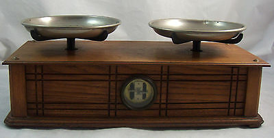 Antique Henry Troemner Apothecary Pharmaceutical Balance Scale Oak Wood Box