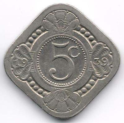 Netherlands : 5 Cents 1939