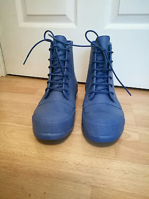 Men's Hunter Original Rubber Lace Up Boots - Cobalt Blue - Size 10