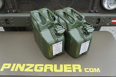 NATO Swiss Army Fuel Gas Jerry Can 10 Liter  Set of 2  Military steel Canister