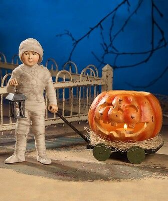 Bethany Lowe Halloween Mummy Carriage Set/2 Closeout New TD3037