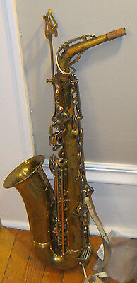 Olds Parisian Ambassador Alto Saxophone Made in France w strap and music stand