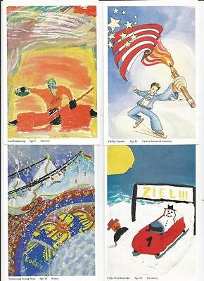 """1998, """"visa Olympics Of The Imagination"""" Postcards, Booklet Of 4"""