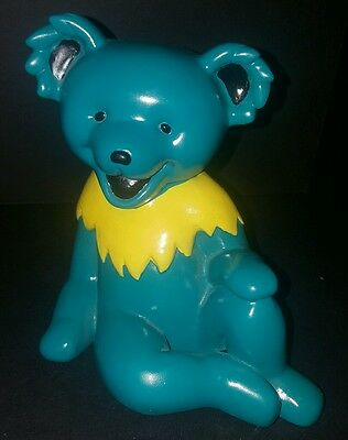 Greatful Dead Bear Blue Bear Figurine Statue One of Pair of Bookends Vandor 5""