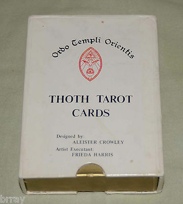 """Rare Vintage Aleister Crowley Thoth Tarot Cards Deck """"White Box B"""" Edition"""