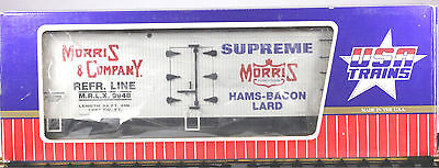 USA Trains # R-16027 G Gauge Morris & Company Reefer,  LN/BX