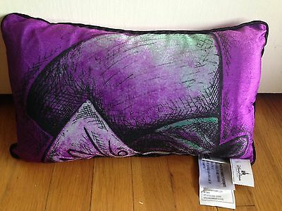 Alice In Wonderland Disney Parks MAD HATTER Purple Pillow