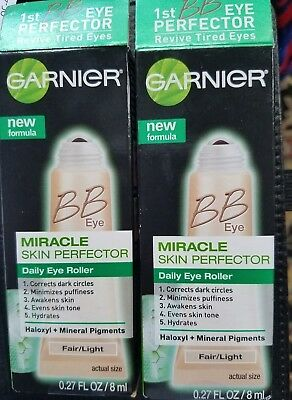2 Garnier BB Miracle Skin Prefector Daily Eye Roller Fair/Light or Light/Med