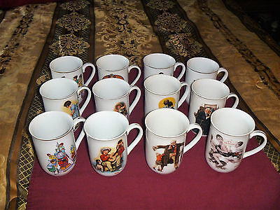 Norman Rockwell 1921,1926,1929, & 1936 On 12 Norman Rockwell Cups