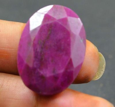 55 ct Huge Natural Blood Red  Ruby Oval Cut