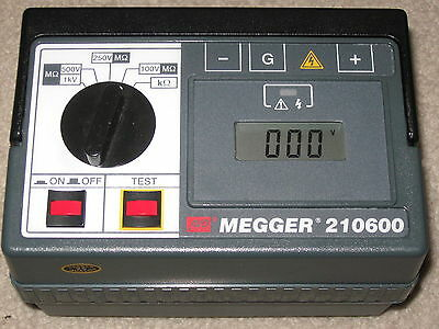 Megger 210600 Insulation And Low Resistance Tester