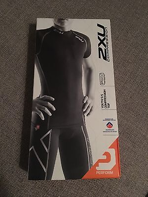 2xu Youth Compression Top Black Size Large