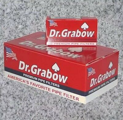 """10 Boxes Dr. Grabow Premium Pipe Filters - NEW 120 Count Each 2 1/4"""" 1200 Total"""