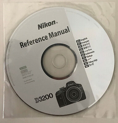 Nikon D3200 reference manual disc - spare, replacement- camera instruction guide