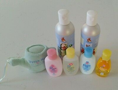Peter Rabbit Bubble bath + shampoo & Johnson's Baby bath products NEW