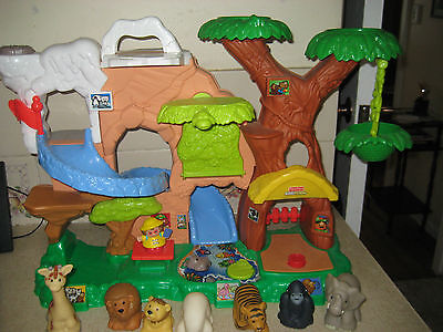 Little People  Talking Zoo Play Set With Animals And Zoo Truck Great Used