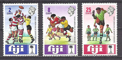 Fiji , Sports , Rugby , 1972 , Set Of 3 , Perf , Vlh