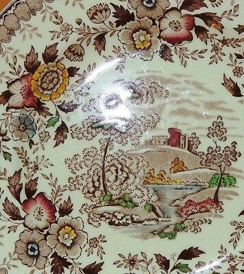 """One Ridgway Woodland Luncheon Plate 8"""" 4453 Made in England Transferware"""