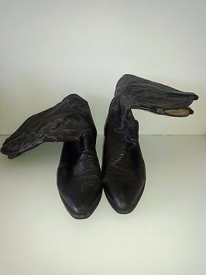 Vintage Dan Post Tall Leather Cowboy Boots, Size 10.5 Mens