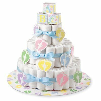 Diaper Cake Kit Wilton Baby Shower Party Event Decoration Gift New Free Shipping