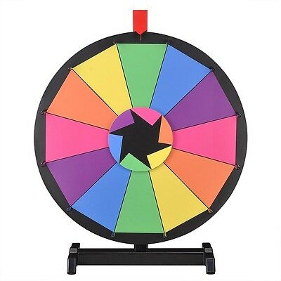 """WinSpin™ 18"""" Tabletop Color Prize Wheel of Fortune 12 Slot Spin Game Tradeshow"""