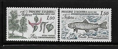 Andorra French Admin 1983 Nature Protection Tree Fish Trout MNH A358