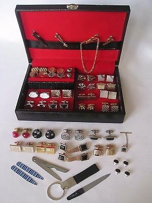 Large Lot of Cufflinks (25 Pairs), New Accessories, Vintage Men's Jewelry Box