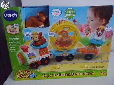 Super train fantastico rigolo, tut tut animo NEUF