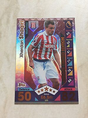 Le5 Topps Match Attax Bronze Limited Edition Xhedran Shaqiri 2016/2017