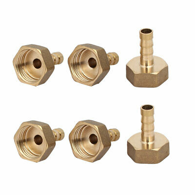 G 1/2 Female Thread 8mm Dia Barbed End Hose Barb Fittings Couplers 6pcs