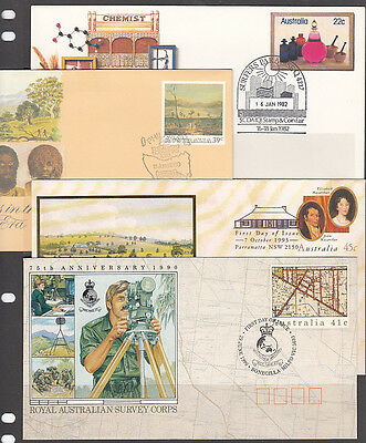 Pictorial Postmarks x 4 Covers Unaddressed. combined post. up to 15 covers $2.00