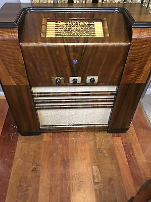 Antique Art Deco AWA Radio Console Floor Radio Restored