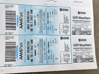 Bruce Springsteen and the E Street Band - 2 Tickets @ AAMI Park, Melb | Feb 2nd