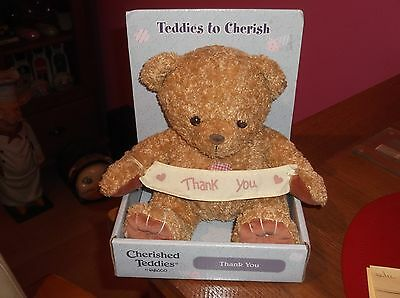Rare Cherished Teddies To Cherish Plush Soft Thank You Bear Boxed