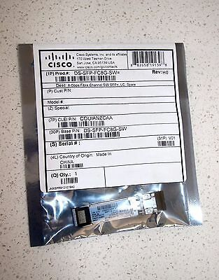 Cisco DS-SFP-FC8G-SW= GBic Module - New Unopened Sealed in Original Packaging