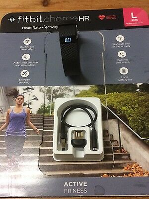 Large FITBIT charge HR Heart Rate + Activity Wristband